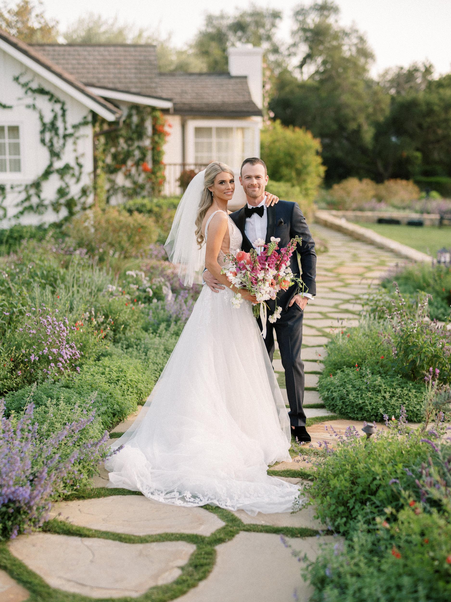 san ysidro ranch garden wedding lavender field santa barbara wedding photographed by dennis roy coronel